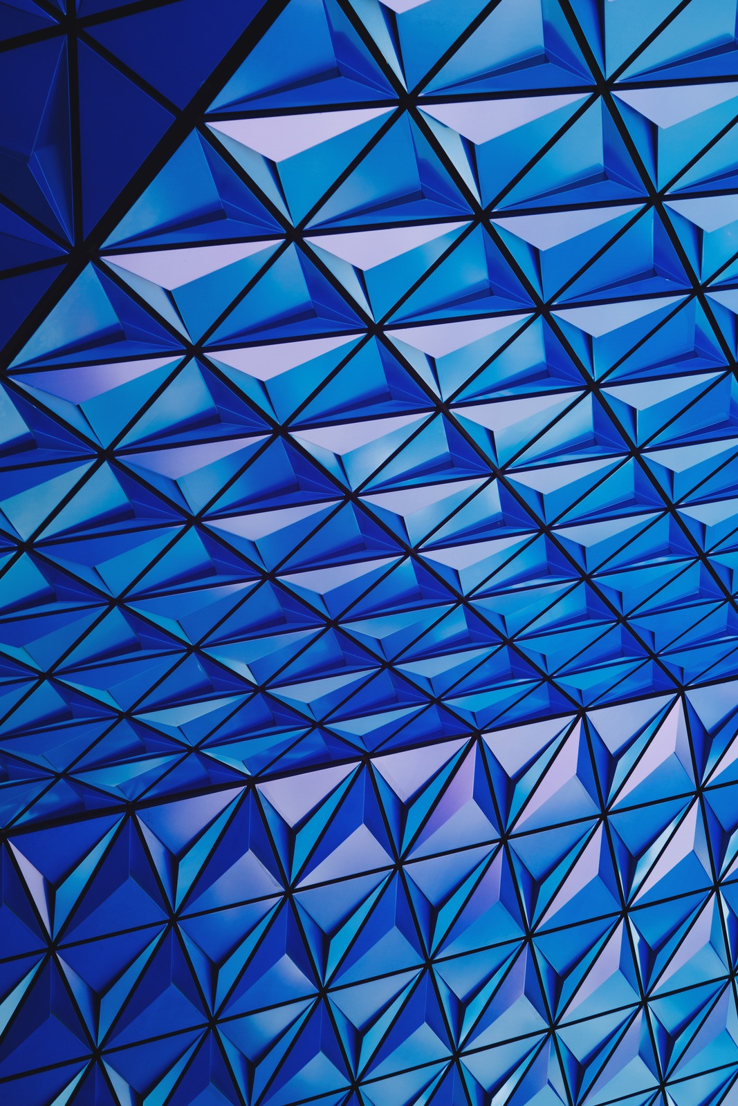 Architectural Photography of Blue Glass Celing by Scott-Webb