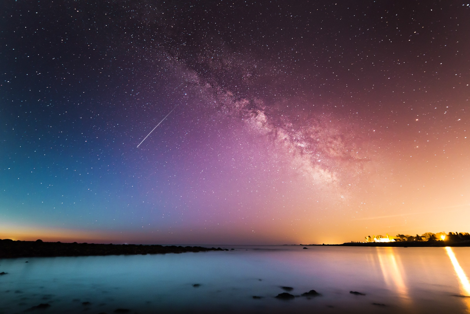 Milky Way Above Water by Kristopher-Roller