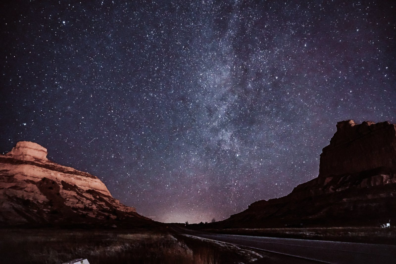 Starry Skies In The Dessert Canyons by Nanessa Reyes